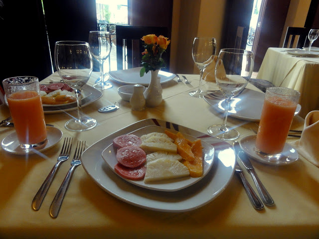 Breakfast at Camino de Hierro Hotel in Camaguey