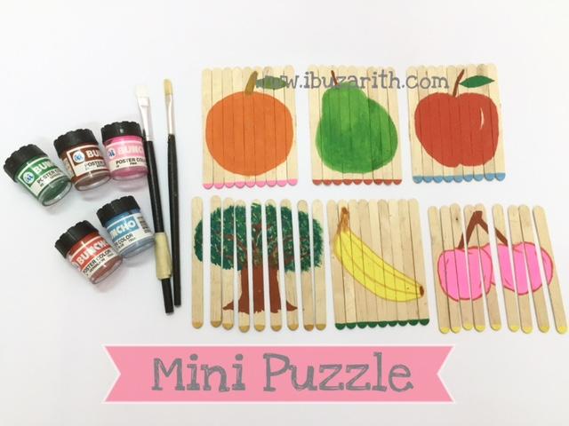 Homeschooling Mini Puzzle Dari Batang Aiskrim Untuk Anak Kecil Diari Ibuzarith