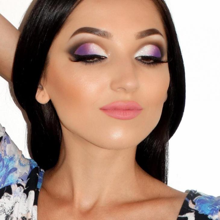 purple makeup design trends 2017