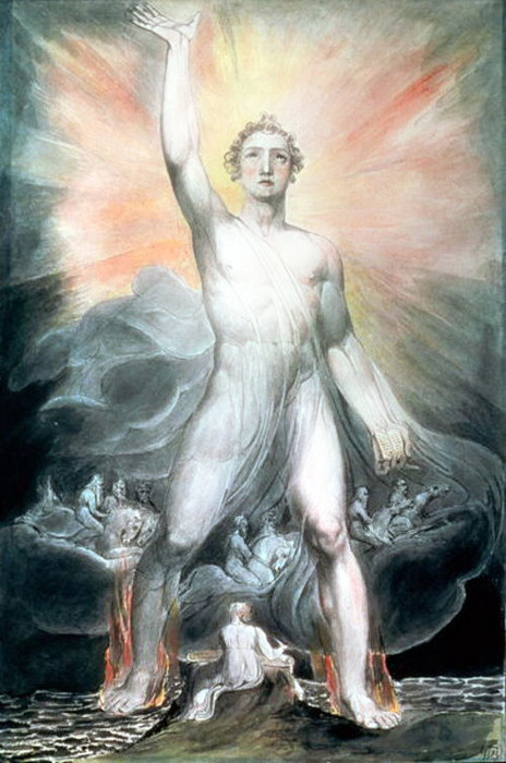 The Angel Of Revelation 1805 By William Blake, William Blake