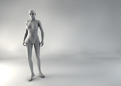 femme 3D pose naturelle SP 03