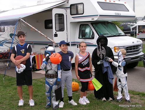 Our last Halloween camping trip