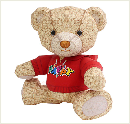 Happy Teddy Bear Papercraft