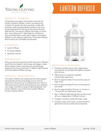 Lantern Diffuser PIP