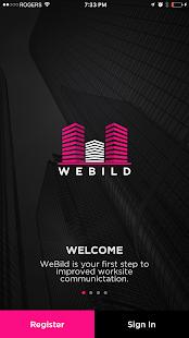 WeBild App - náhled