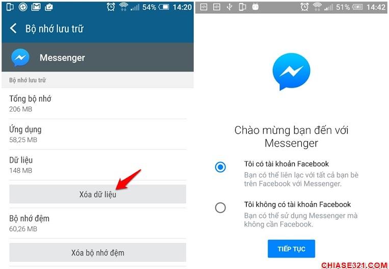 Cách đăng xuất khỏi Messenger Facebook