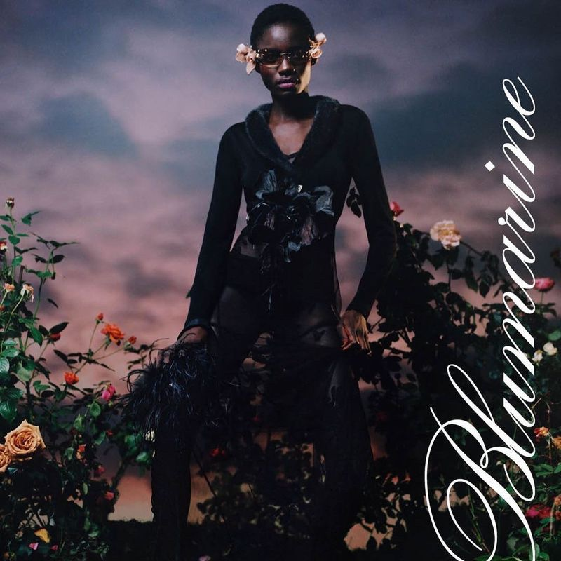 Sokhna Niane appears in Blumarine spring-summer 2021 campaign.