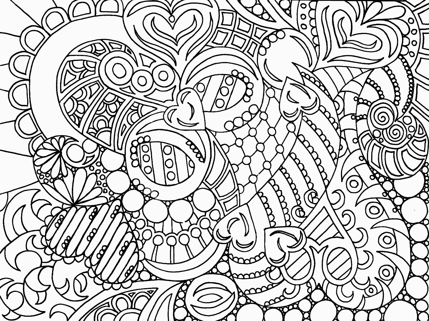 HD Coloring Pages For Adults Abstract Free