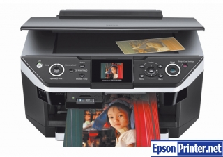 Reset Epson RX685 printing device with tool