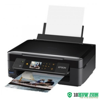 How to reset flashing lights for Epson XP-412 printer
