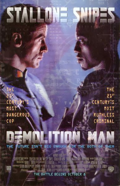 Poster Of Demolition Man (1993) Full Movie Hindi Dubbed Free Download Watch Online At Alldownloads4u.Com