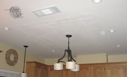 Fabulous Ceiling after fluorescent box removal