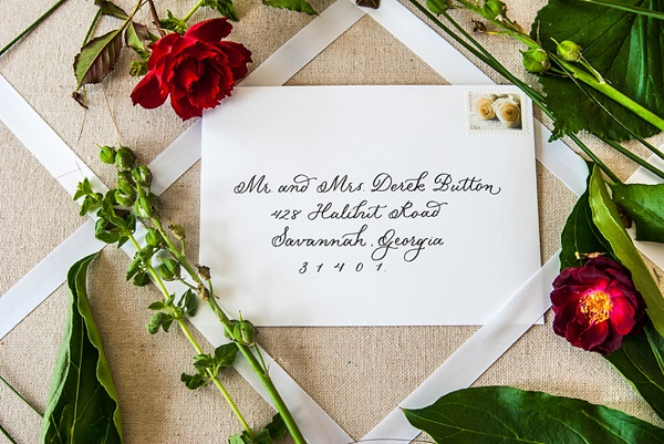 pretty wedding handwriting