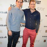 WWW.ENTSIMAGES.COM -  Joshua Dickinson (Holby City) and Nate Fallows (The C-Word) arriving at THE MIRROR premiere   DAY 3 -  Film 4  FrightFest at Vue West End London August 23rd  2014                                                Photo Mobis Photos/OIC 0203 174 1069