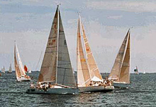 J/35 one-design offshore sailboats- sailing upwind