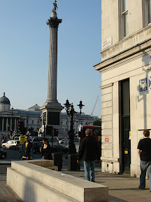 Nelson column in Trafalgar Square
