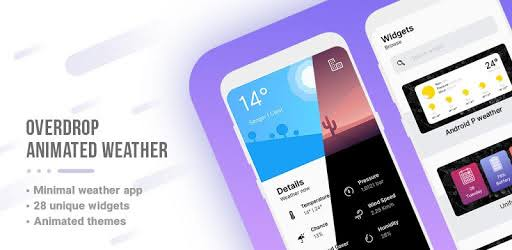 overdrop weather app and widgets