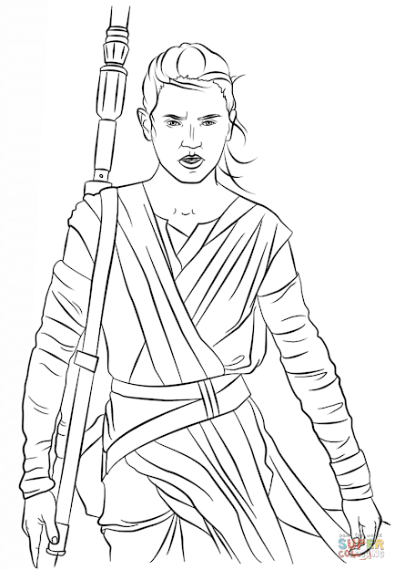 Click The Rey From The Force Awakens Coloring Pages
