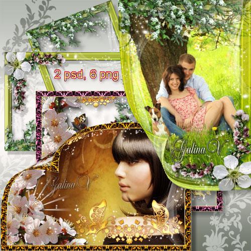 Рамки для фото - Цветущие деревья