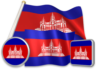 Cambodian flag animated gif collection