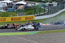 Felipe Massa has a puncture after being hit by Daniel Ricciardo