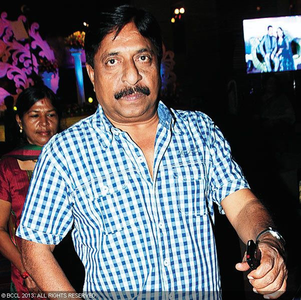 Sreenivasan during Vinu Mohan, Vidya's wedding reception held in Kerala.