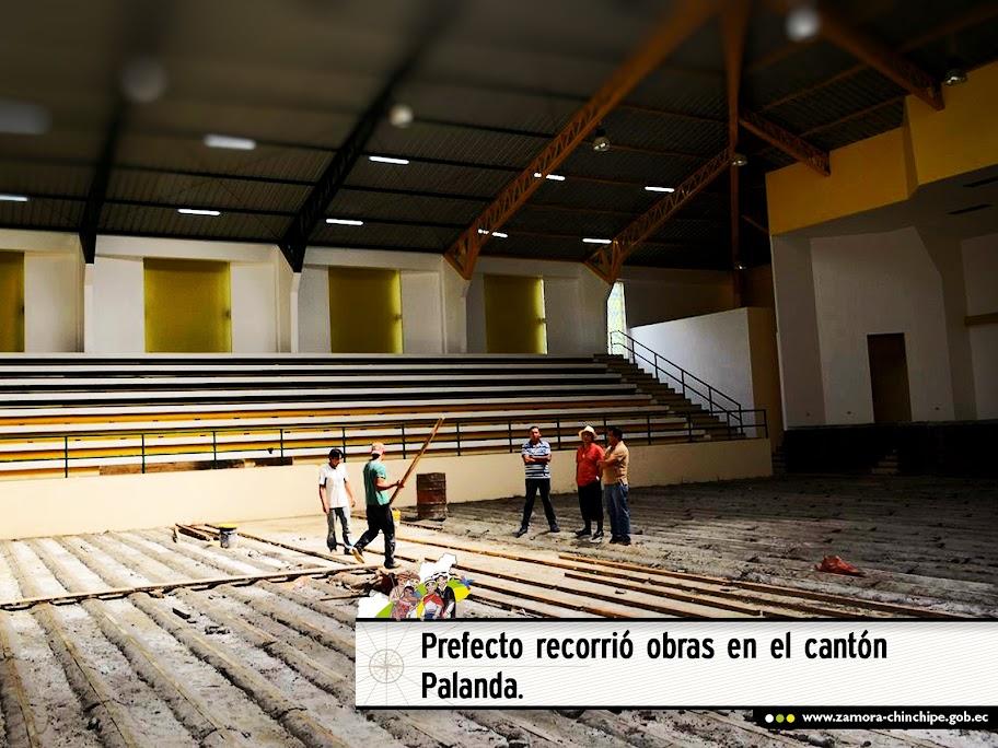 PREFECTO RECORRIÓ OBRAS EN EL CANTÓN PALANDA