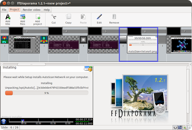 Creare un montaggio video o slideshow con ffDiaporama Movie Creator
