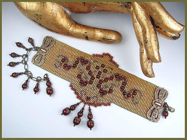 Бисерный браслет в викторианском стиле, автор Эрин Симонетти (Eryn Simonetti)