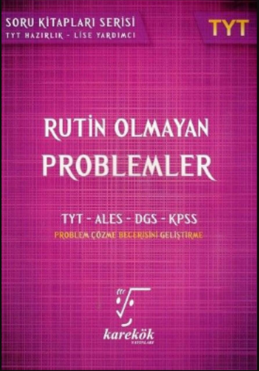 Karekök Yayınları TYT Rutin Olmayan Problem