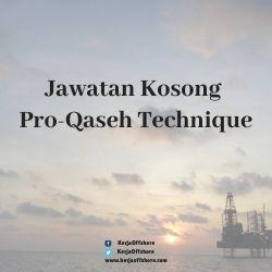 Jawatan Kerja Kosong Pro-Qaseh Technique Sdn Bhd