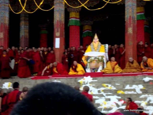 Massive religious gathering and enthronement of Dalai Lama's portrait in Lithang, Tibet. - l28.JPG