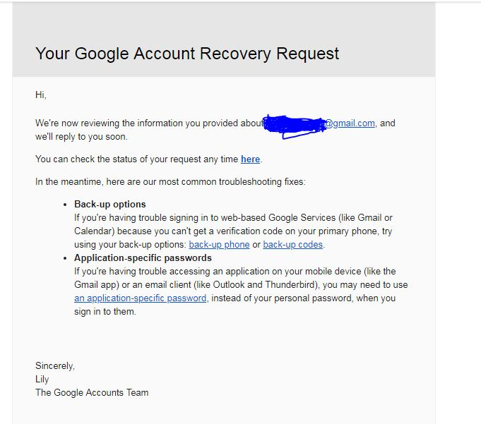 I am change my google account password