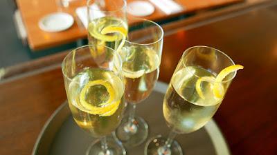 The Magic Flute cocktail at Nel Centro, a special creation for the Portland Opera with Prosecco, Nardini Acqua di Cedro, Grapefruit Bitters