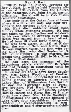 HART_Roy J_obit_LansingJournal_16 Sep 1946_pg 2