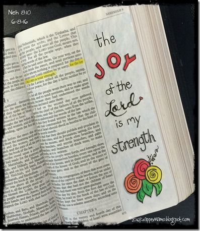 Bible Art Joy of the Lord Neh 8-10