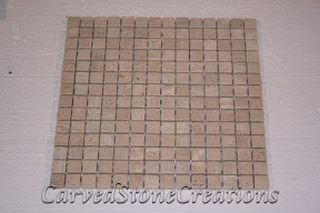 3/4x3/4, Flooring, Flooring & Mosaics, Interior, Mosaic, Natural, Stone, Tile, Travertine, Tumbled