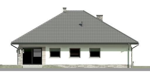 Dom przy Kwiatowej 3 bis - Elewacja tylna
