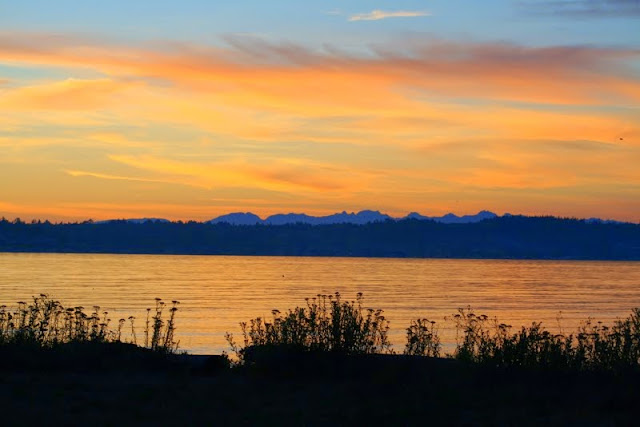 A sunset completes the mellow mood of Birch Bay.Credit: Terry Brennan