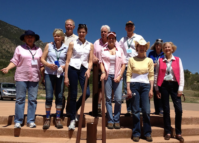 Ten of the nineteen grandchildren who lived/visited the JL Ranch during the summer months with their grandparents Lloyd and Dorothy Jones. — at Cheyenne Mountain State Park.