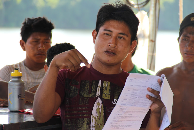 Mukuka Xikrin, a leader and spokesperson for the current occupation of the Belo Monte dam construction site. (Photo: Rafael Salazar)