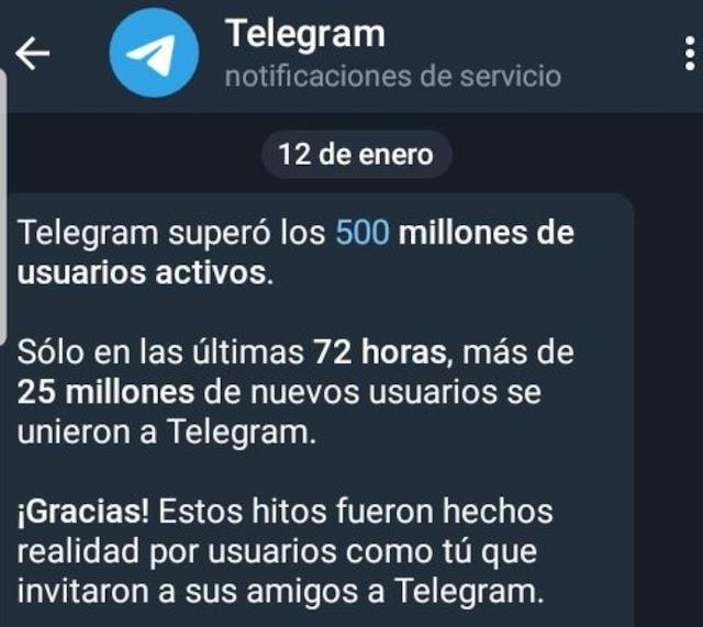 25 millones de usuarios de WhatsApp se fueron a Telegram