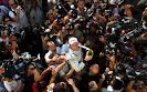 Rubens Barrichello champagne photo