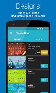 Ginger Tastatur + Übersetzer Screenshot