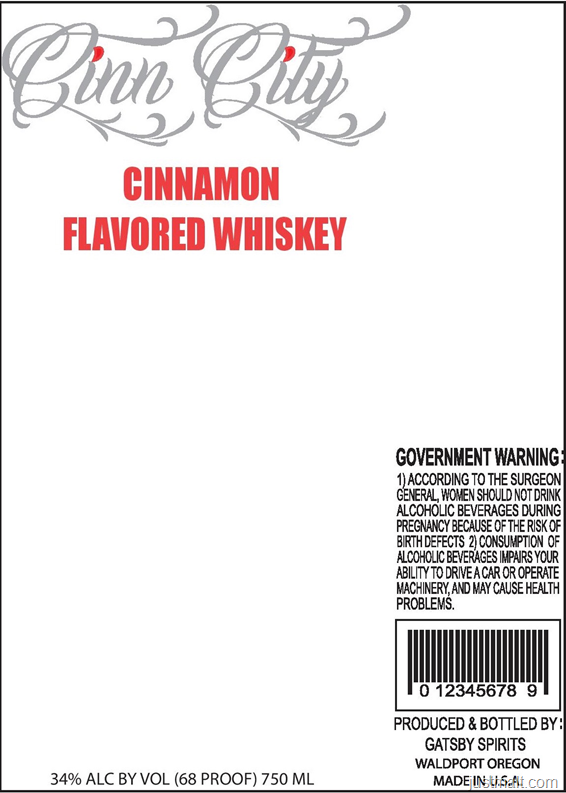Gatsby Spirits Cinn City Cinnamon Flavored Whiskey