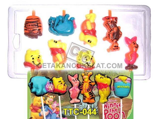 cetakan cokelat coklat Winnie The Pooh Piglet Tigger Tiger