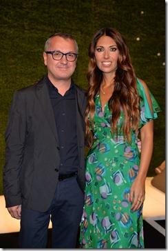 Lavinia Biagiotti con Luca Dini