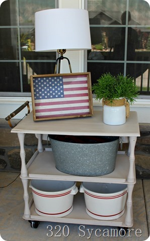 patriotic porch cart 4th of july ideas
