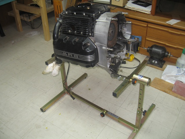 how to mount vw engine to stand