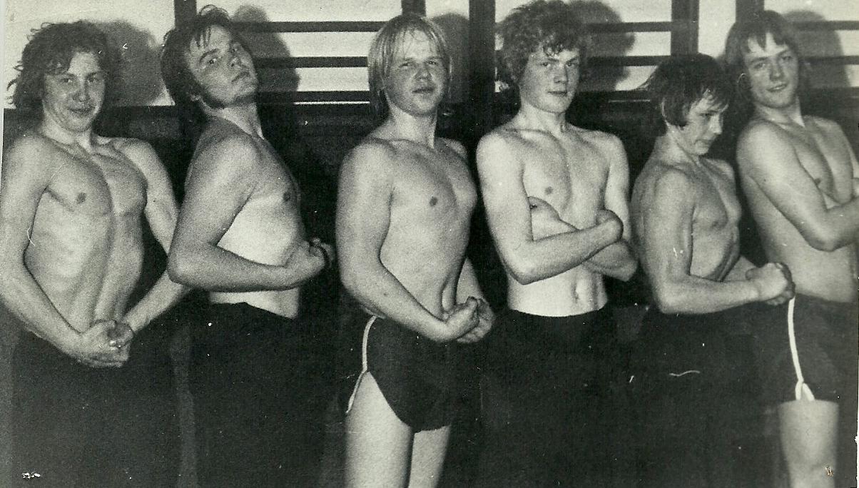(41) Hugo Suislepa treeningrühm Vigalas 1977.a. Paremalt teine Olev Nisumaa